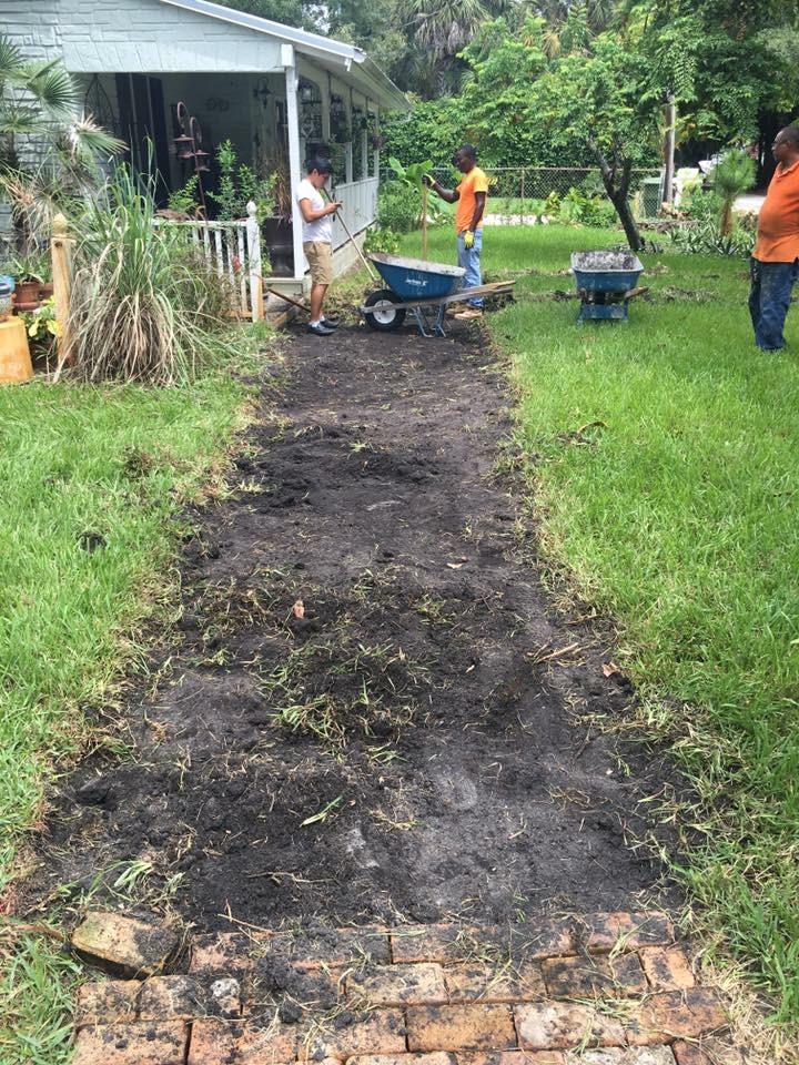 backyard pavers installation in orlando