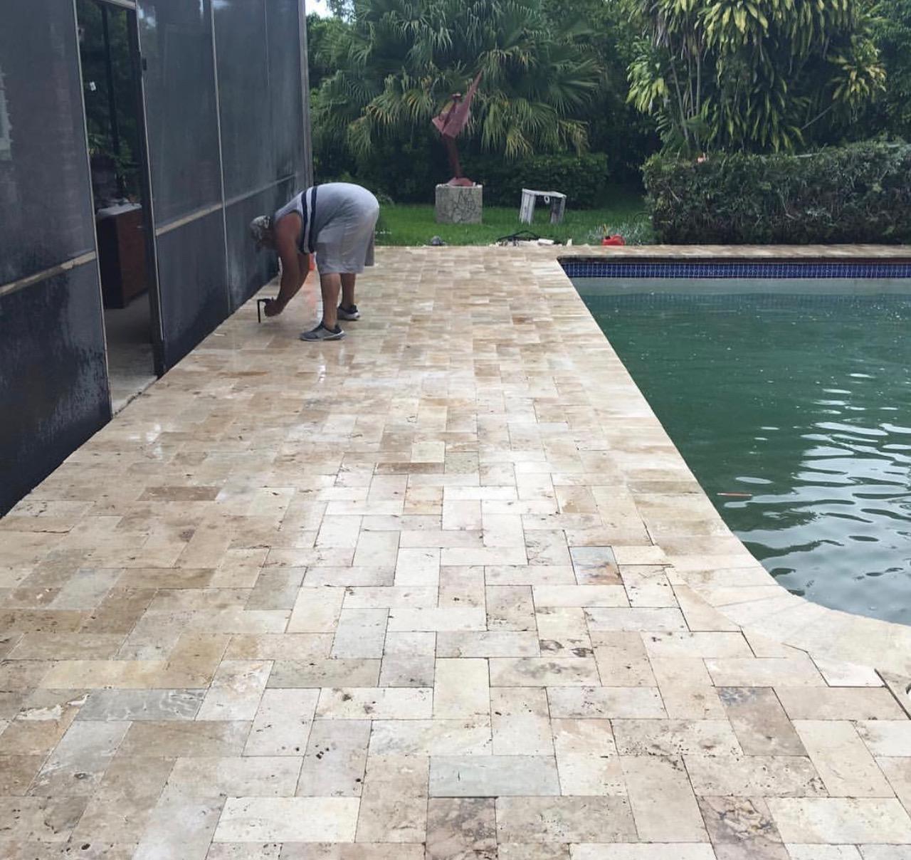 pool patio pavers installation